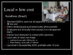 local low cost