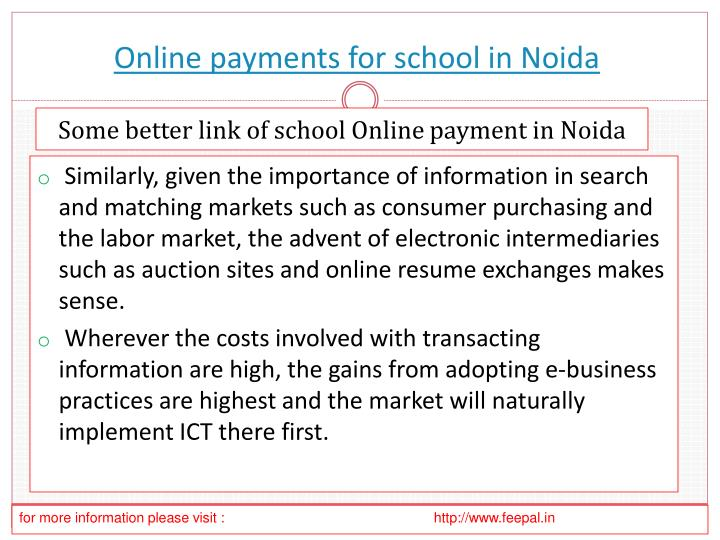 online payments for school in noida n.