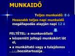 munkaid