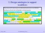 2 design ontologies to support workflows