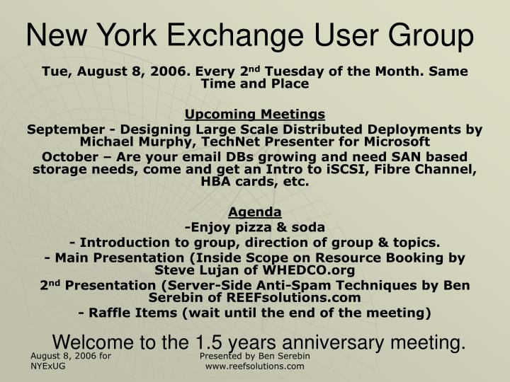 welcome to the 1 5 years anniversary meeting n.