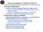 guest investigator fellows programs