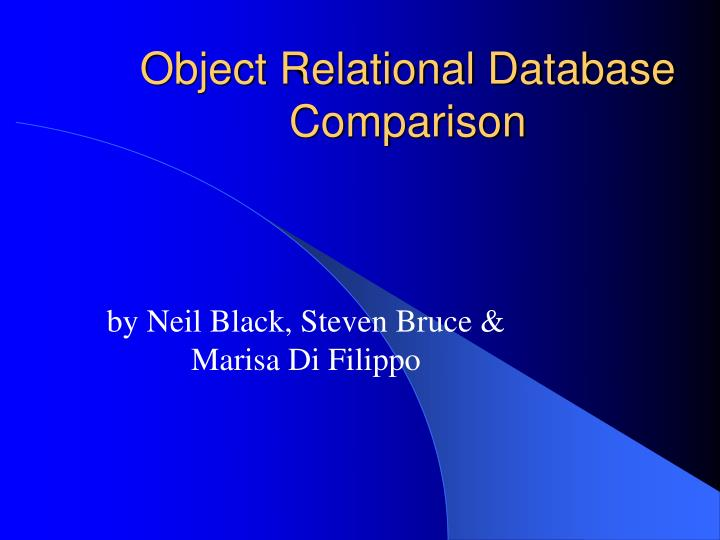 object relational database comparison n.