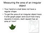 measuring the area of an irregular object