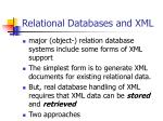 relational databases and xml