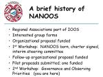 a brief history of nanoos