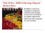 title 10 sec 10302 collecting organic market data