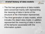 a brief history of data models1