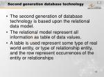 second generation database technology