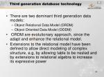 third generation database technology
