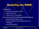 modeling the www3