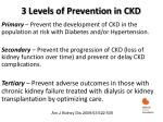 3 levels of prevention in ckd
