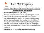 free cme programs