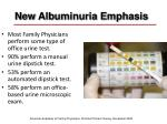 new albuminuria emphasis