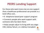 peers lending support