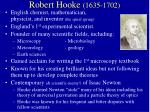 robert hooke 1635 1702