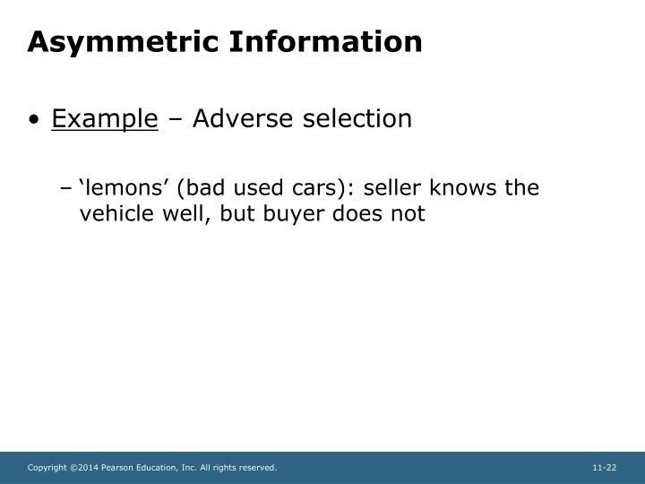 Asymmetric Information