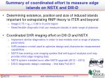summary of coordinated effort to measure edge islands on nstx and diii d