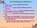 14 5 4 selecting a raid level