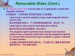 removable disks cont