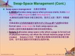 swap space management cont