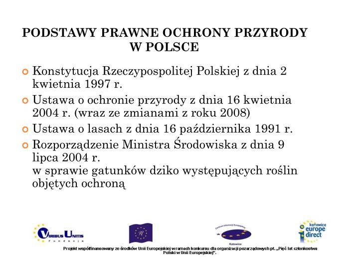 Podstawy prawne ochrony przyrody w polsce