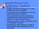 benefits we get from performance feedback