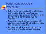 performane appraisal procedure