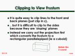 clipping to view frustum