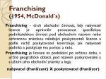 franchising 1954 mcdonald s