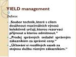 yield management1