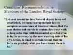comenius recommendation to members of the london royal society