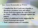 jan amos komensk as writer
