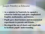 joseph priestley as educator