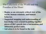 the labyrinth of the world and the paradise of the heart1