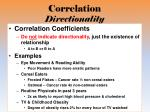 correlation directionality