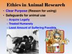 ethics in animal research