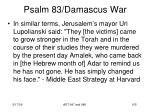 psalm 83 damascus war103