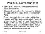 psalm 83 damascus war105