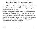 psalm 83 damascus war89