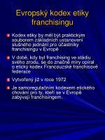 evropsk kodex etiky franchisingu