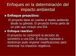 enfoques en la determinaci n del impacto ambiental