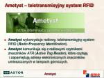 ametyst teletransmisyjny system rfid