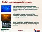 modu y oprogramowania systemu