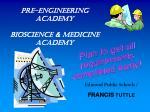 pre engineering academy bioscience medicine academy