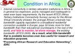 condition in africa