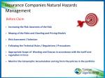insuranc e companies natural hazards management