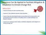 insurance can be applied to facilitate mitigation adaptation to climate change risk