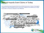 natural hazards event claims in turkey