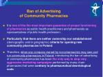 ban of advertising of community pharmacies1